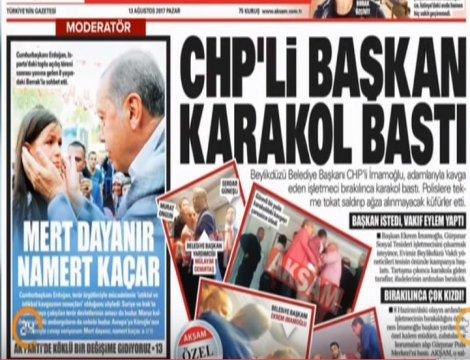 Akşam'ın 'CHP'li Başkan karakol bastı' haberine Beylikdüzü Belediyesi'nden açıklama