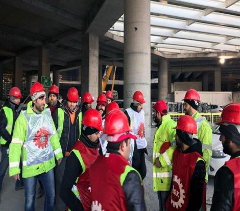 Eroğlu Skyland'de işçilerin direnişi sürüyor