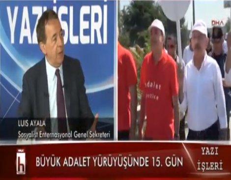 Luis Ayala: Kılıçdaroğlu adaletin, demokrasinin, vicdanın sembolü olarak yürüyor