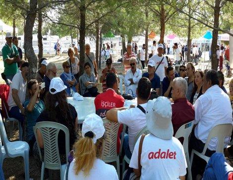 Taşeron işçileri Adalet aramak için Çanakkale'deydi