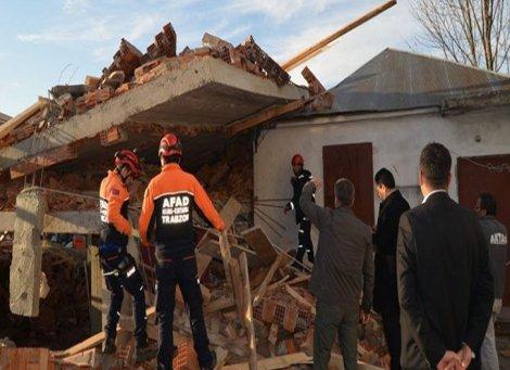 Trabzon'da cami inşaatında göçük: 1 ölü, 7 yaralı