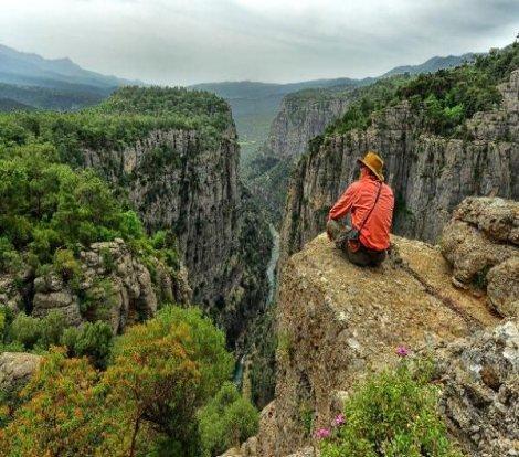 Yeni keşfedilen kanyonda muhteşem manzara