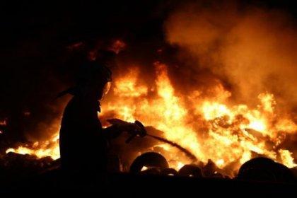 Ankara'da kağıt fabrikasında yangın
