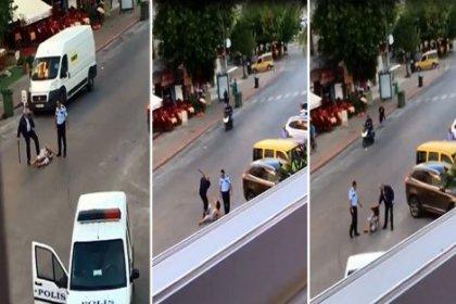 Antalya'da polisler kadına copla vurup, tekmelediler