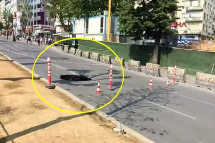 Beşiktaş'taki yol çökmesine İBB'den açıklama