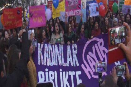 Kadınlar 'Hayır' için yürüdü
