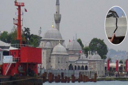Mimar Sinan'ın yaptığı Şemsi Paşa Camii'nde çatlak oluştu, İBB projeyi durdurdu