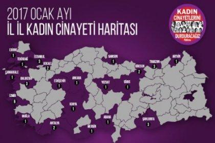 Ocak ayında 38 kadın öldürüldü