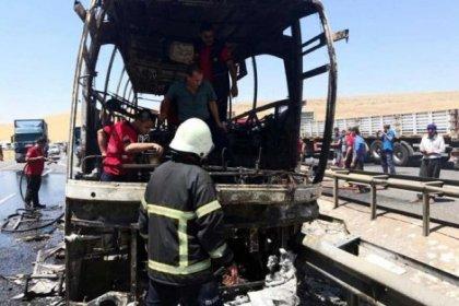 Yolcu otobüsünde yangın çıktı: Çok sayıda yaralı var