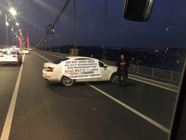 15 Temmuz Şehitler Köprüsünde trafik durdu