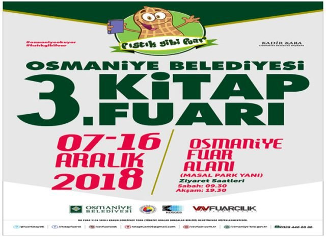 3. Osmaniye Kitap Fuarı 7 Aralık'ta başlıyor