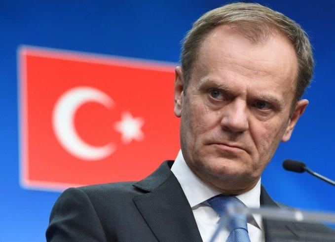 Avrupa Konseyi Başkanı Tusk'tan Türkiye'ye: AB üyesi bir ülkeyi tehdit etmeyin
