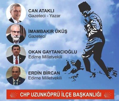 """CHP Uzunköprü İlçe Başkanlığından """"Türkiye Nereye Gidiyor?"""" paneli"""