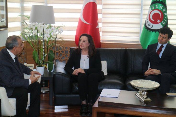 CHP'li Yaşar Seyman'dan Şeker-İş Başkanı İsa Gök'e dayanışma ziyareti