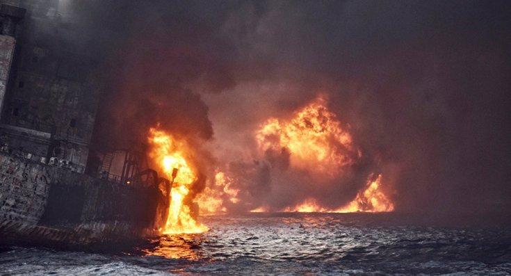 Çin denizinde tanker battı, 30'u İranlı tüm mürettebat öldü