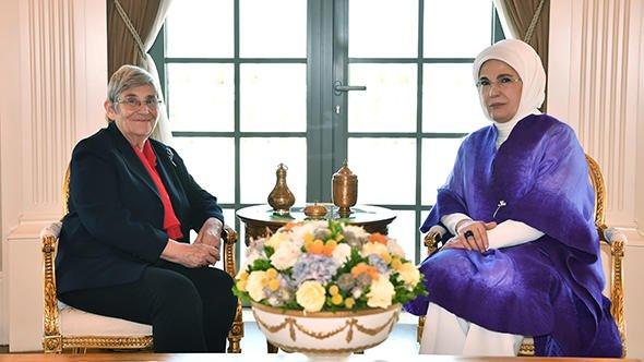 Emine Erdoğan, Prof. Dr. Canan Karatay'ı kabul etti
