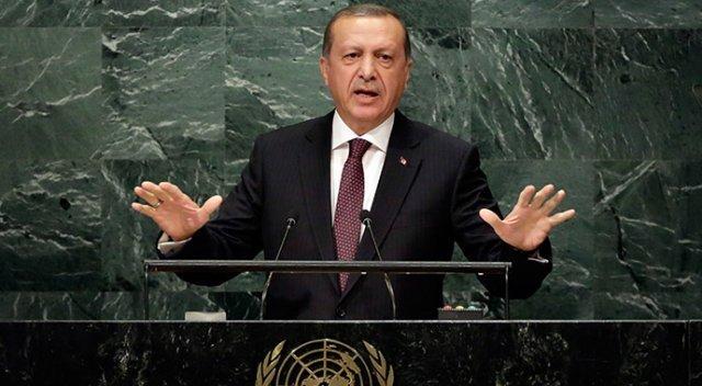 Erdoğan BM Genel Kurulu'nda konuştu: Suriye'de terör örgütlerine TIR ve kargo uçakları dolusu silah verenler gelecekte bunun bedelini ödeyecek