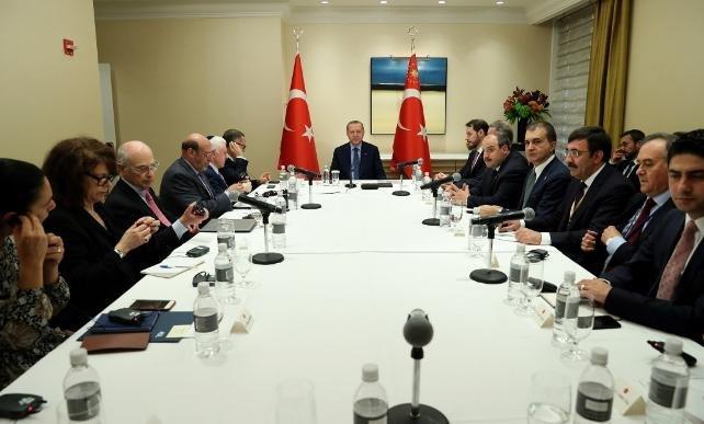 Erdoğan, New York'ta Yahudi kuruluşlarının temsilcileriyle basına kapalı görüştü