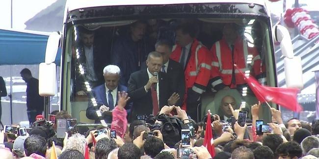 Erdoğan Ovit Tüneli'nin açılışını yaptı