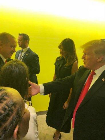 Erdoğan ve Trump BM Genel Kurulu kulisinde bir araya geldi