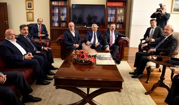 Kılıçdaroğlu iş ve işveren temsilcilerini kabul etti