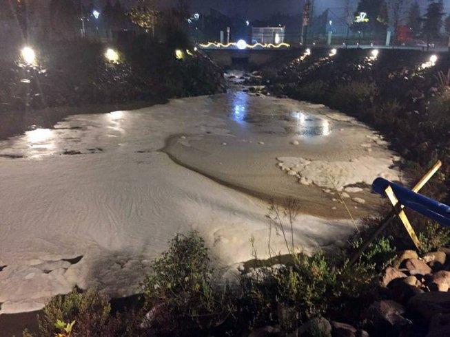 Manisa'da çevre katliamı! Kimyasal atıkları çaya döktüler
