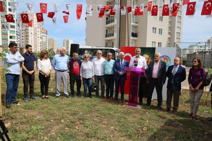 Mezitli'de Türkiye Emekliler Derneği 'kayısı koruluğu' açıldı