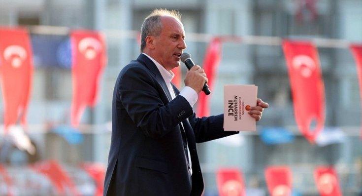 Muharrem İnce'den Erdoğan'a: MİT'in adını değiştir, 'Muharrem'i İzleme Teşkilatı' yap; yazık yazık memleketin haline bakın
