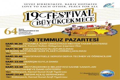 19. Uluslararası Büyükçekmece Kültür ve Sanat Festivali'nin resmi açılış töreni 30 Temmuz!