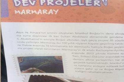 4. sınıf öğrencilerine karne hediyesi olarak dağıtılan kitapta AKP'nin projeleri anlatıldı