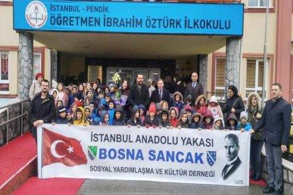 Anadolu Yakası Bosna Sancak Derneği'nden İbrahim Öztürk İlkokulu'na yardım