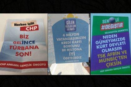 Ankara'da CHP, HDP ve İYİ Parti için sahte broşürler dağıtıldı!