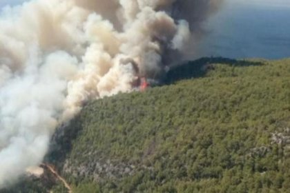 Antalya'daki orman yangını genişliyor