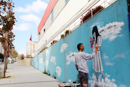 Beylikdüzü'ndeki trafo binaları sanat eserine dönüşüyor