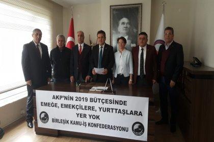Birleşik Kamu İş: AKP'nin 2019 bütçesinde emekçilere ve yurttaşlara yer yok