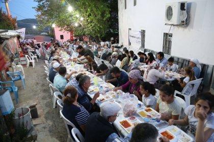 Bodrum'da ilk iftar Çömlekçi'de yapıldı