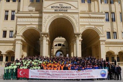 Büyükçekmece Belediyesi personelinden Mehmetçik'e anlamlı destek
