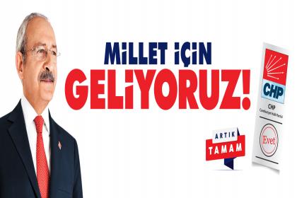 CHP Lideri Kılıçdaroğlu seçim bildirgesini açıklıyor; 'Millet İçin Geliyoruz'