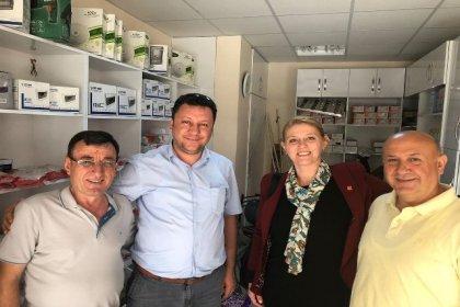 CHP Uzunköprü İlçe Başkanı Becan ve Edirne Milletvekili adayı Atalay, esnaf ziyaretlerine başladı