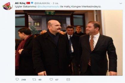 CHP'li Belediye başkanı Ali Kılıç bakan Soylu ile fotoğraf paylaştı sosyal medya yıkıldı