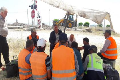 CHP'li Gürer, demiryolları işçilerini ziyaret etti: 'TCDD'de sorunlar göz ardı ediliyor'