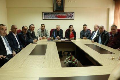 CHP'li Usluer, işçi konfederasyonlarını ziyaret etti