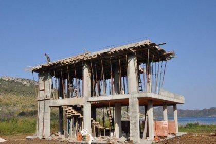 Datça'da tarihi sit alanına kaçak otel inşaatı