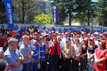 DİSK'ten direnişteki Flormar işçilerine ziyaret