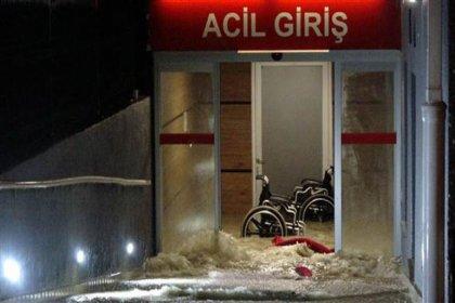 Edirne'de sağanak yağış: Acil'i su bastı, caddeler kapandı