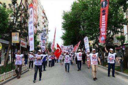 Eğitim İş, 1 Mayıs'ı yurt genelinde coşkuyla kutladı