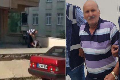 Engelli oğlunu sokak ortasında dövdüğü için gözaltına alınan babadan pişkin savunma: Adam mı öldürdüm!