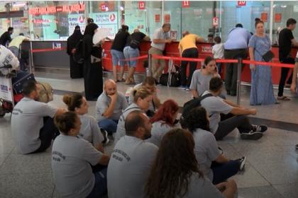 Ercan Havalimanı'nda grev: Bazı uçak seferleri iptal edildi