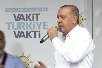Erdoğan: Yastık altında doları, avrosu olanlar varsa bunları bozdurun, bunlara burada da bir dersini verin