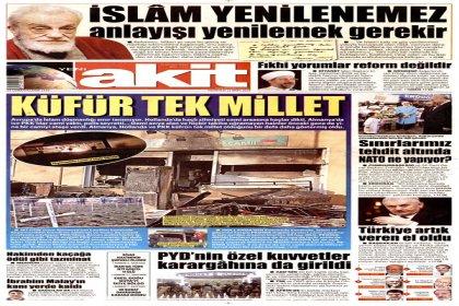 Erdoğan'ın 'İslam güncellenmeli' sözlerine Akit'ten Necip Fazıl'lı yanıt
